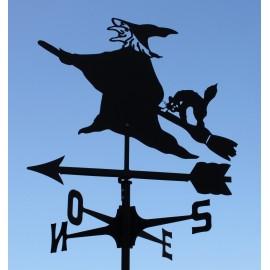 segnavento strega e gatto Stregatto banderuola